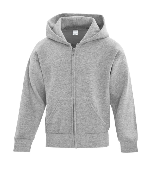 Youth full zip hoodie athletic heather