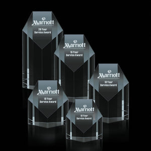 Auburn Crystal Award 5 sizes