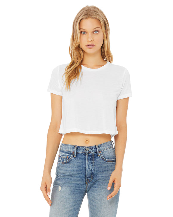 Ladies white cropped top