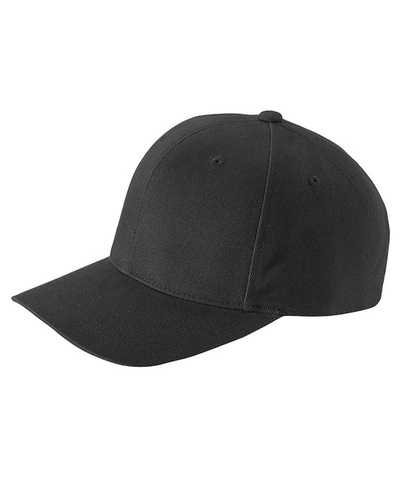 Black Cotton Twill Structured Baseball Cap