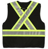 Black five point tear away safety vest back view