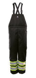 Black insulated safety bib pants