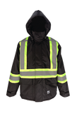 Black insulated safety jacket