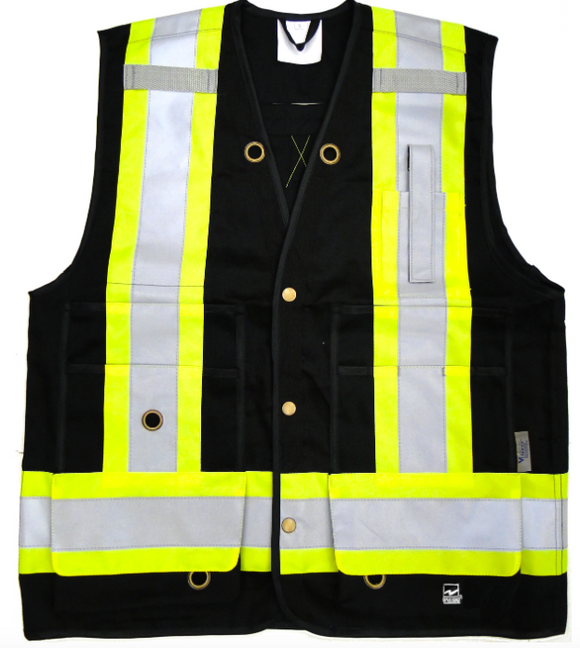 Black surveyors vest