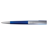 blue plastic pen top view