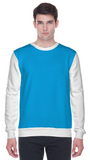 Colour block sweatshirt in blue and white