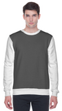 Colour block sweatshirt in charcoal and white