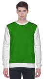 Colour block sweatshirt in green and white