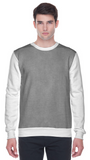 Colour block sweatshirt in grey and white