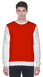 Colour block sweatshirt in red and white