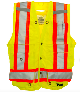 fluorescent green surveyor vest