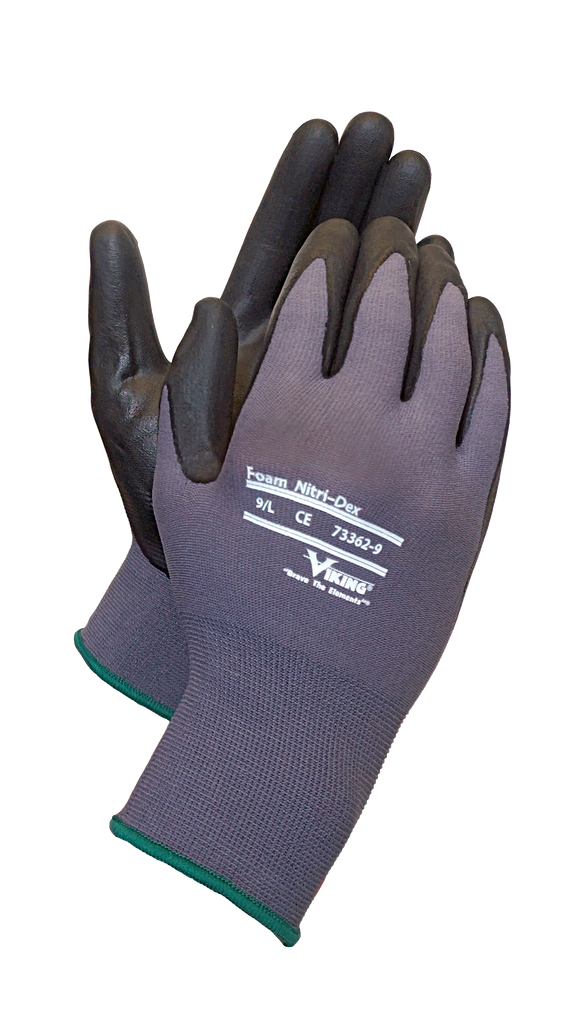 Foam Nitri-dex gloves