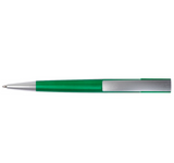 Green plastic pen top view
