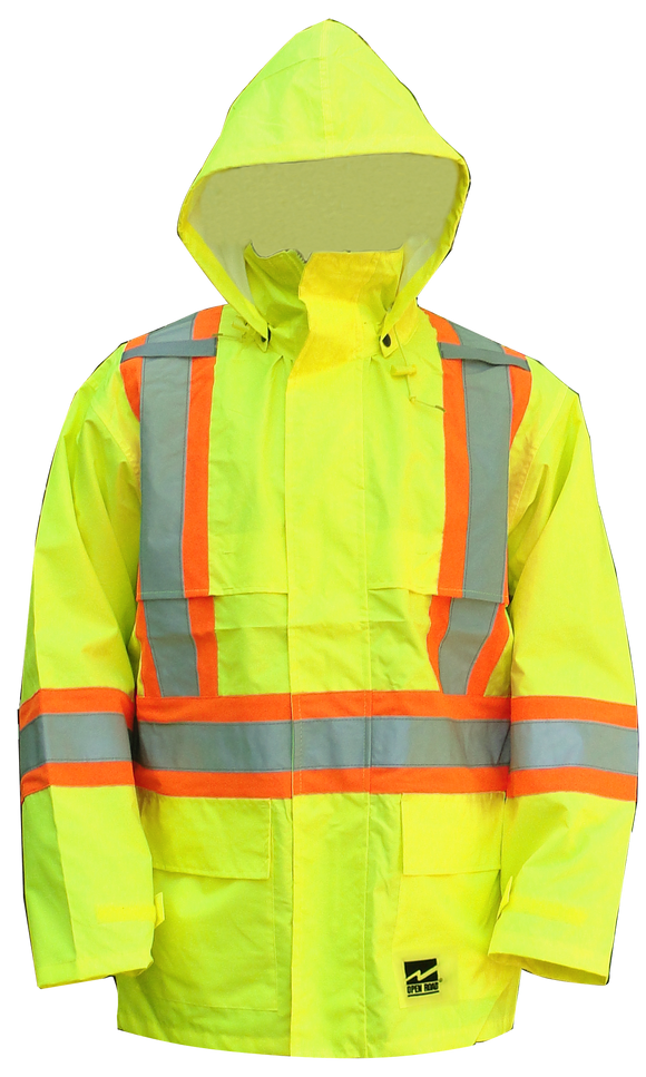 Green safety jacket class 2 level 2