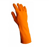 13 inch heavy duty orange latex gloves