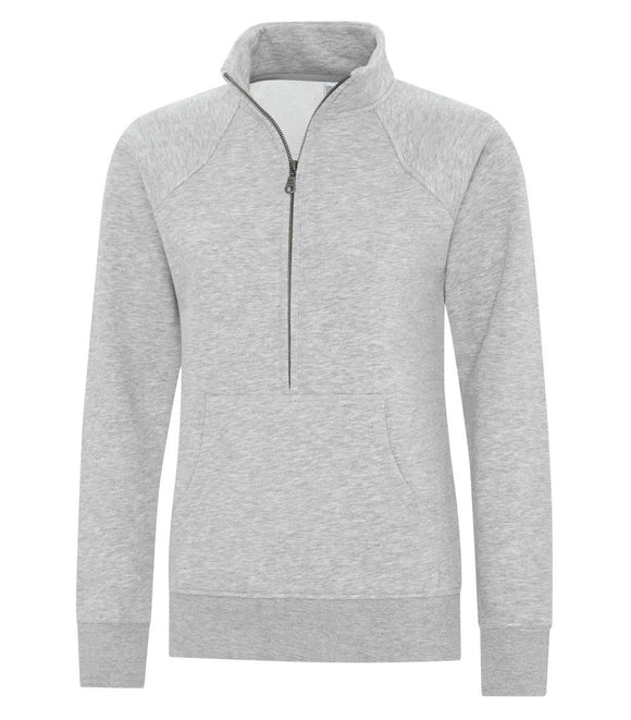 Ladies 1/2 zip sweater athletic grey