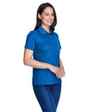 Ladies royal blue polo side