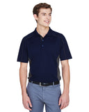 Mens colour block polo navy