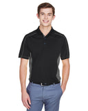 Mens colour block polo charcoal