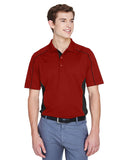 Mens colour block polo red