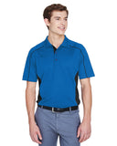 Mens colour block polo royal