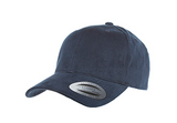 Navy Cotton Twill Structured Baseball Cap