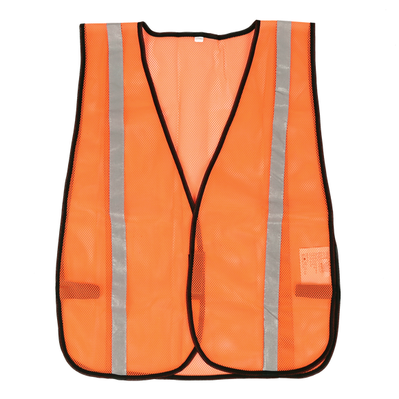 Orange compact mesh safety vest