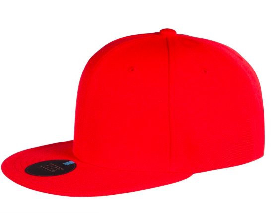 Red flat beak cap