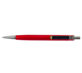 Top view of red aluminum pen