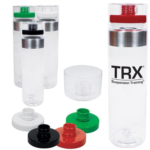 Tritan water bottle with variety of lid colours