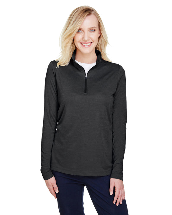 Team 365 Ladies' Zone Sonic Heather Performance Quarter-Zip TT31HW