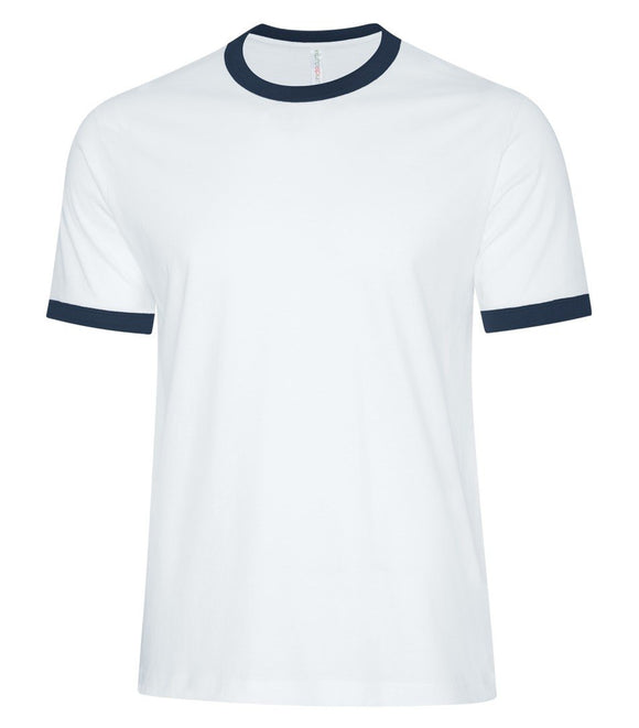 Men's Two-toned Ringer T-shirt White/Navy