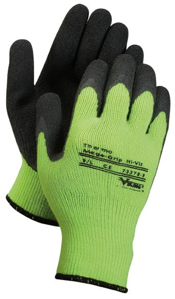 Green Insulated Supported Grip Gloves