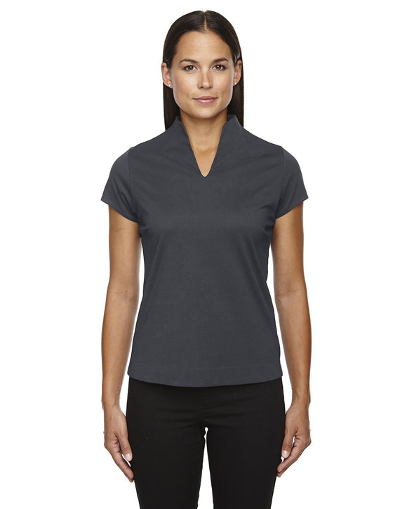 Women's polo carbon grey