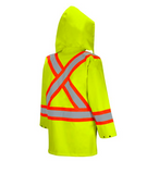 Class 2 Level 2 Rain Jacket Back View