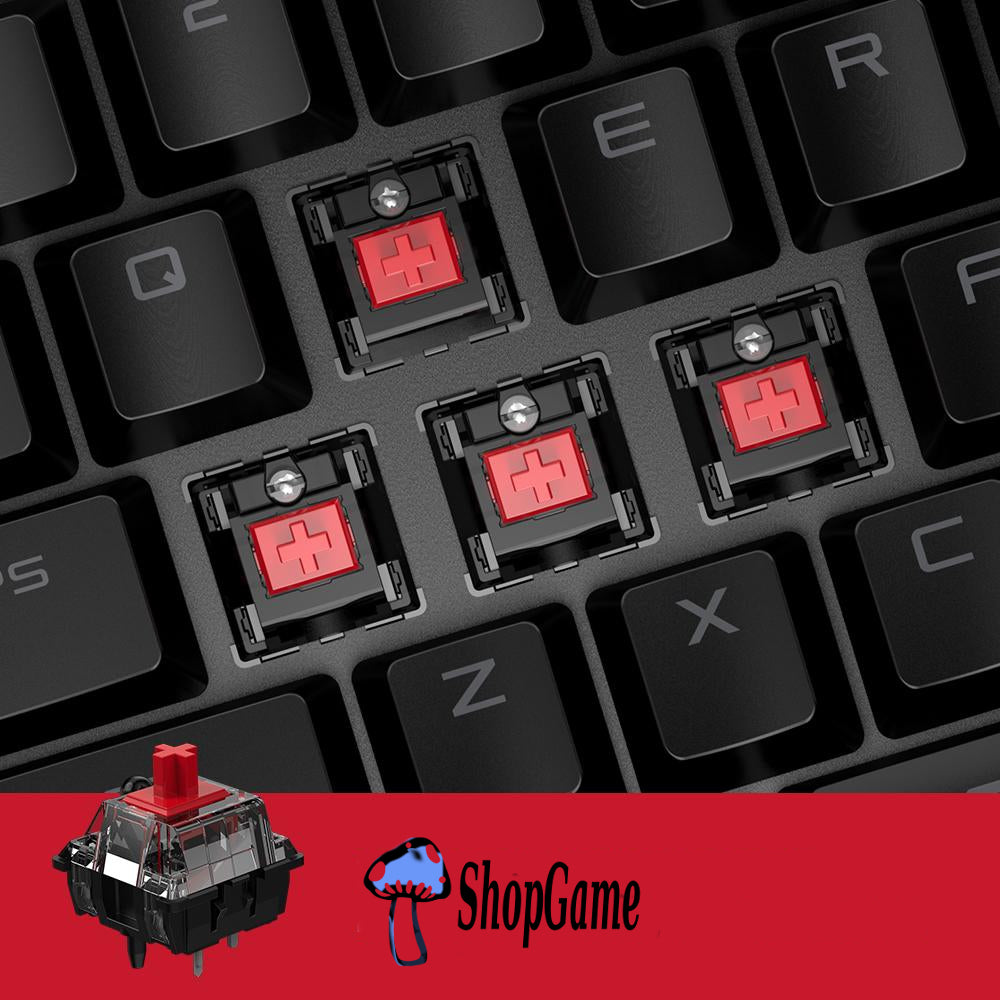 clavier souris gamer vx2 switch rouge