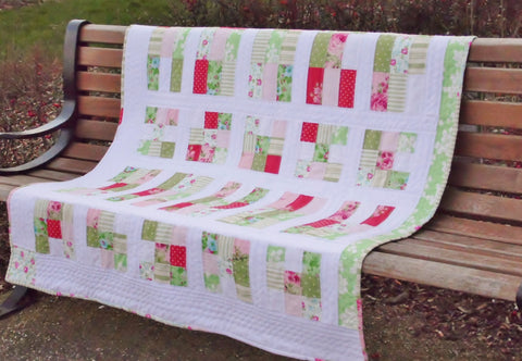 Spring Playtime Handmade Patchwork Quilt - Vintage and Floral handmade quilts