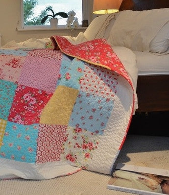Summer Caravan Quilt - Vintage and Floral handmade quilts