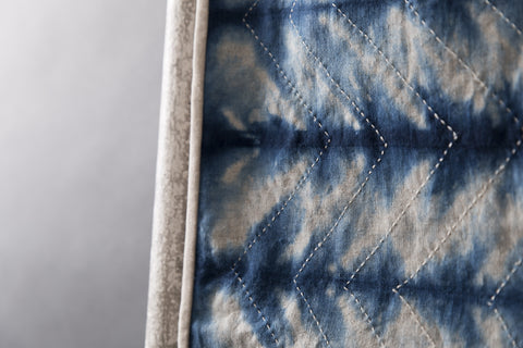 Shibori #1 - Vintage and Floral handmade quilts