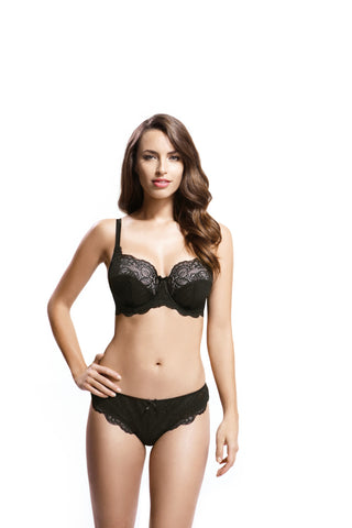 Panache - Andorra Full Cup Balconnet Bra in Black