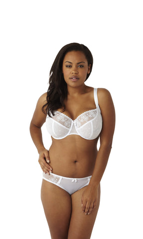Cleo - Lucy Balconnet Bra in White