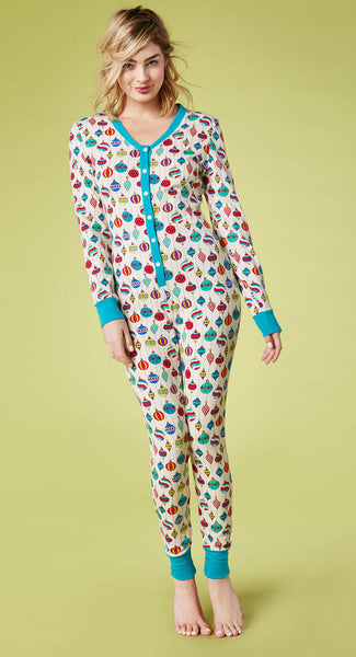 Bedhead Pyjamas - Hanging Ornaments Stretch Cotton Onesie