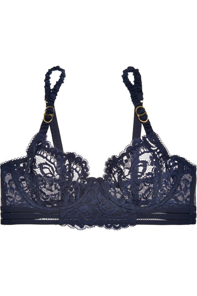 Stella McCartney - Isabel Floating Underwire Long Line Bra in Ink Blue