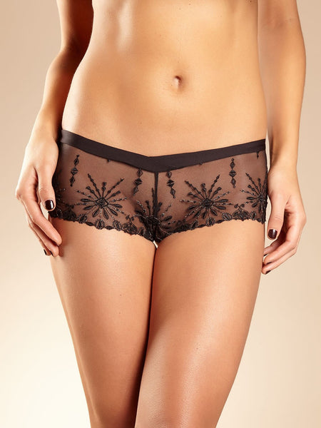 Chantelle - Vendome Boyshort in Black & Gold