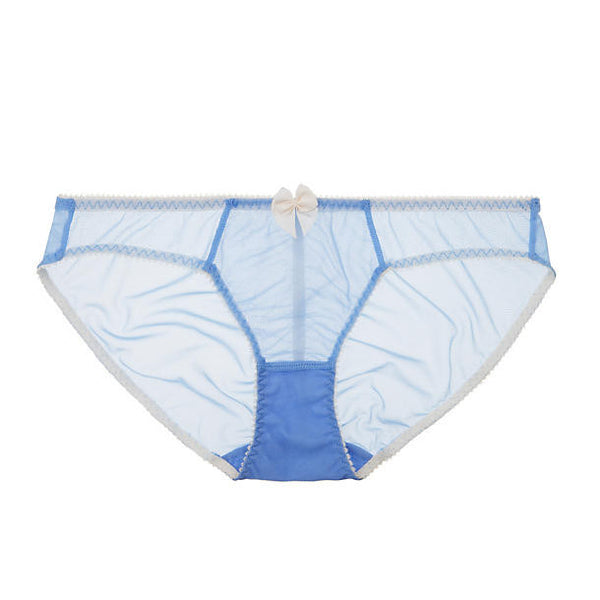 Claudette - Dessous Bikini in Periwinkle and Cream Soda Trim