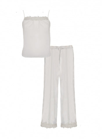 Fleur of England - Creme De La Creme Silk Camisole and Pyjama Trouser