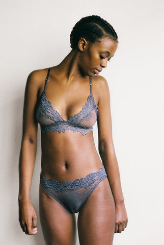 Lonely Hearts - Bonnie Softcup Bra in Granite