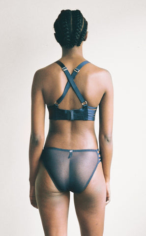 Lonely Hearts - Lulu Strap Brief in Indigo
