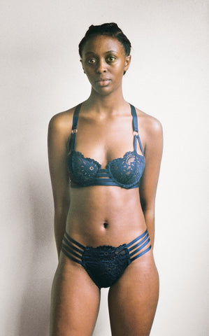 Lonely Hearts - Lulu Strap Bra in Indigo