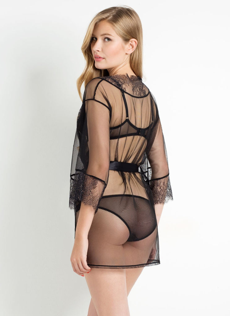 L'Agent by Agent Provocateur - Grace Robe in Black & Gold